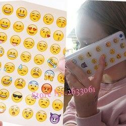 Nuevo retrato de cabeza bonita pegatina cara sonriente interesante sonrisa cara pegatinas niños juguete para teléfono portátil mensaje Twitter
