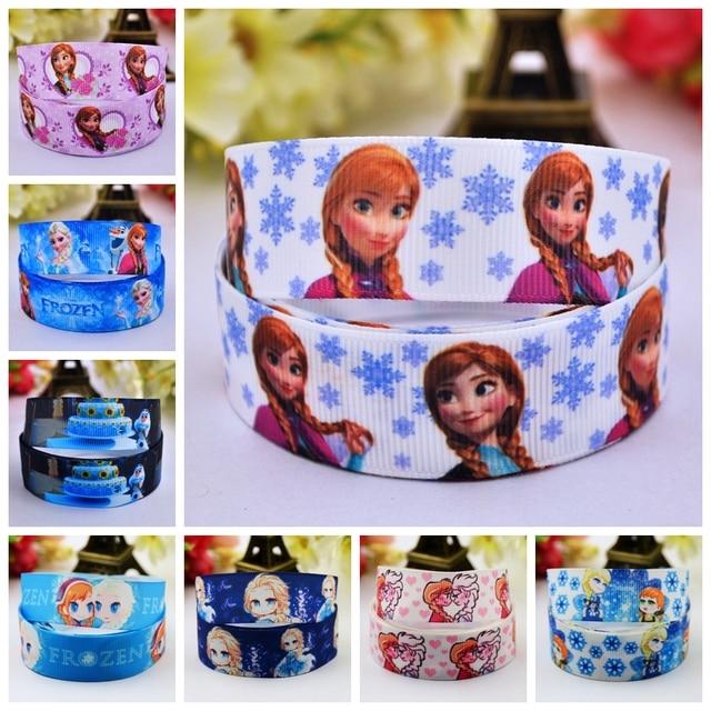 22mm Kawaii princesa cinta para el pelo Diy cinta impresa grogrén regalo envoltura decoración cintas suministros de costura
