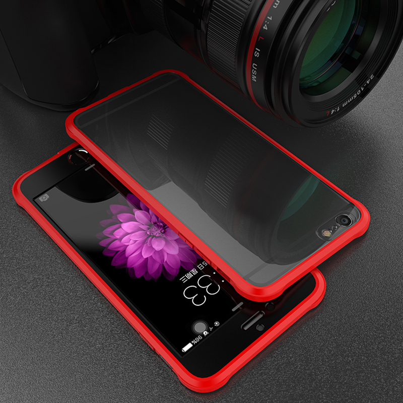 Heavy Duty Original Case Ipaky For Iphone 6S Silicone +Acrylic Hybrid Back Cover Case For Iphone X 7 8 Plus Cases 6 S Anti Knock