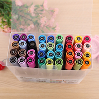 QSHOIC 36 colors/set double headed oily color marker pen graffiti pen professional art pen set