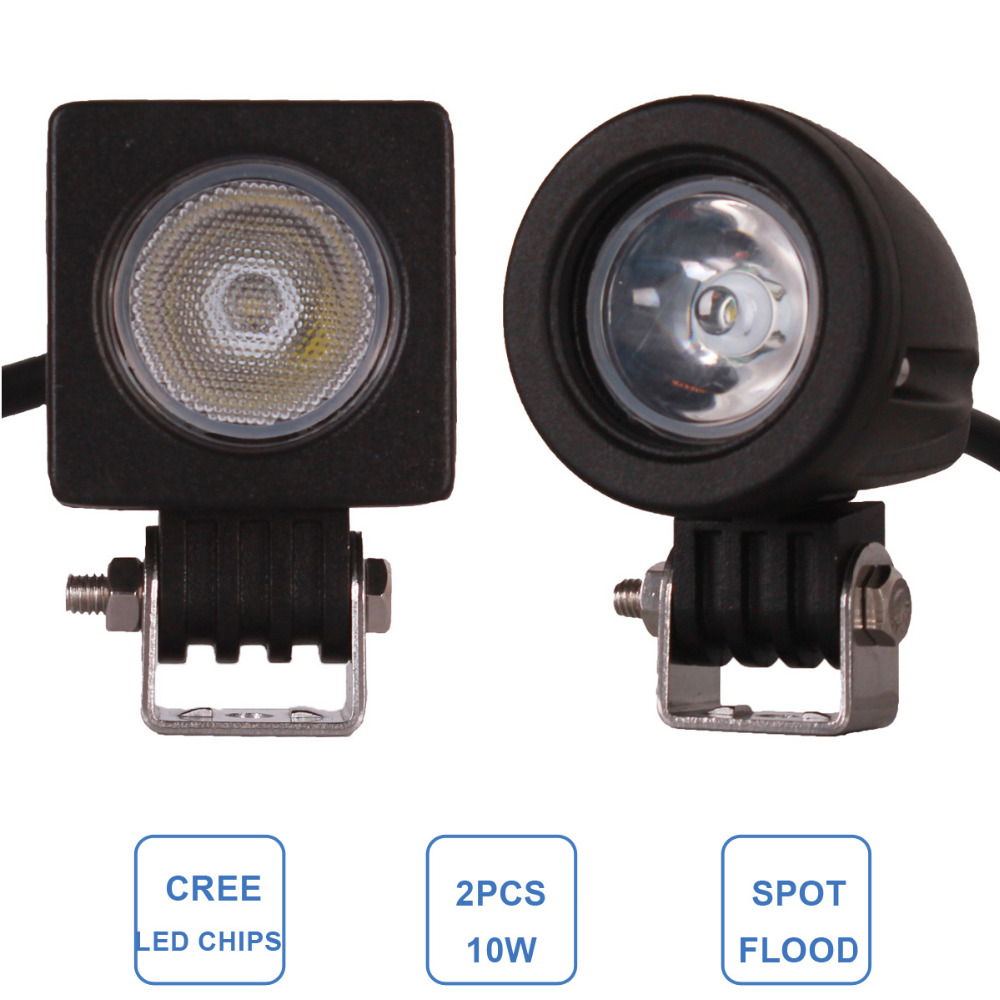 ⑥10 W luz de trabajo LED mini 12 V 24 V coche auto SUV ATV 4wd AWD ...