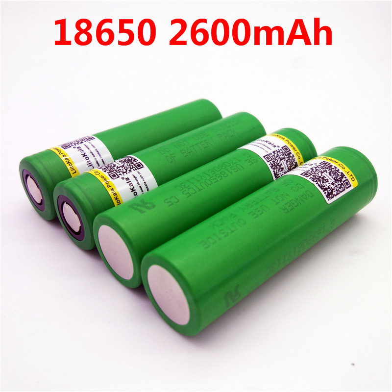 Liitokala 100% Original 30A Discharging 3.7V US18650 VTC5 2600mAh Rechargeable Batteries For Sony 18650 Battery/E-Ciga аккумуляторная батарея feiya 100% samsung 3 6v 18650 2600mah btteries