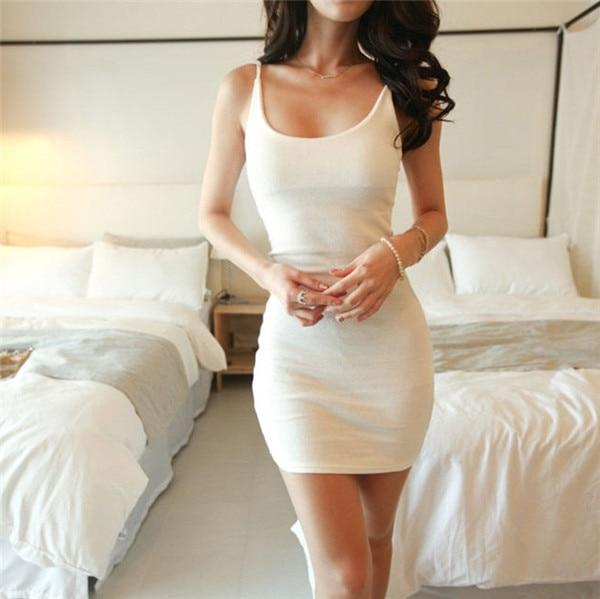 HTB1ff.ZGFXXXXX7aXXXq6xXFXXXk - Fashion Women Sexy Backless Basic Dresses Sleeveless Slim Vestidos Vest Tanks Bodycon Dress Strap Solid Party Dress