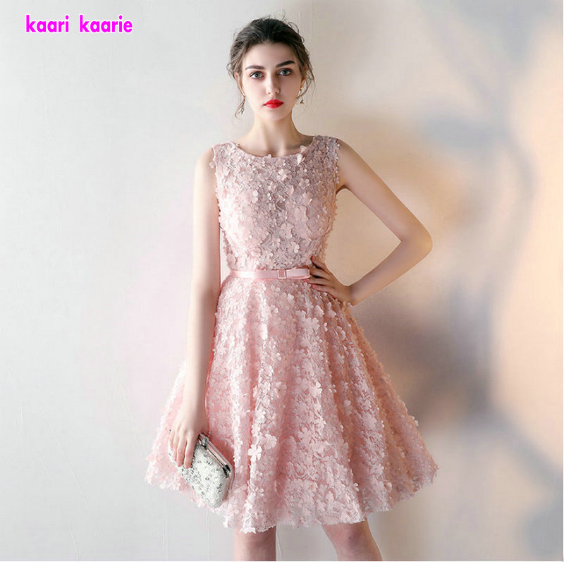 Red And White Lace Prom Dress: Aliexpress.com : Buy Fashion Pearl Pink 3D Lace Prom
