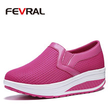 FEVRAL Woman Flat Platform Shoes Woman Loafers Fashion Summer Slip On Shallow Swing Casual Shoes Woman Flats Zapatos De Mujer(China)