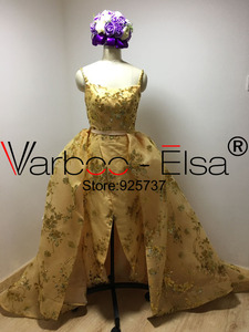 Image 4 - Real Photos gold Luxury Sequined Lace Evening Dresses Halter Hand Pleated Custom Made Vestido De Festa 2017 from Yousef Aljasmi
