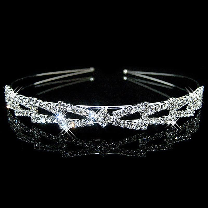 1Pcs Crystal Шаштара Tiara Crown Headband Hair Hoop Head Bands - Киімге арналған аксессуарлар - фото 3