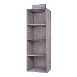 Cotton Linen Wardrobe Storage Hanging Organizer Pocket Drawer Towel Clothes Blanket Underwear Closet Clothing Accessories Items