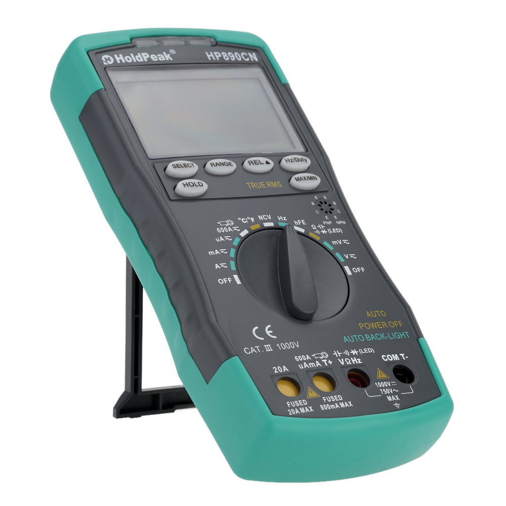 Digital Multimeter DMM with NCV Detector Voltage Current Meter Resistance Diode Capaticance Tester LCD цена