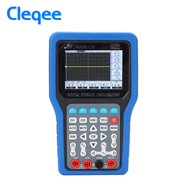 JinHan JDS3012A Series Handheld Digital Storage Oscilloscope And Digital Multimeter, 30MHz, Single Channel,250MS/s Sample Rate