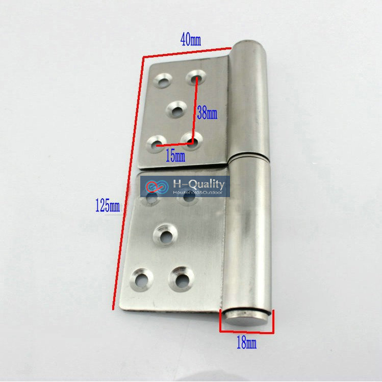 HQ 125MM Long Stainless Steel Flag Hinge, Lift Off Hinge, Door Hinge 1 pair 4 inch furniture hinge stainless steel hinge door hinge satin finish lash hinge