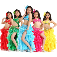 Belly Dance Costumes Girls Kids Belly Dance Bra And Belt Sets Sexy Clothes Performance Wear Costumes Belly Dance Skirts DN1614
