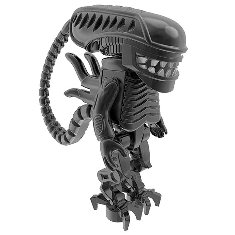 Alien Vs Predator Movie Building Blocks Giant Monster Figure Technic Figures Friends Bricks  Children Model Bricks Toys