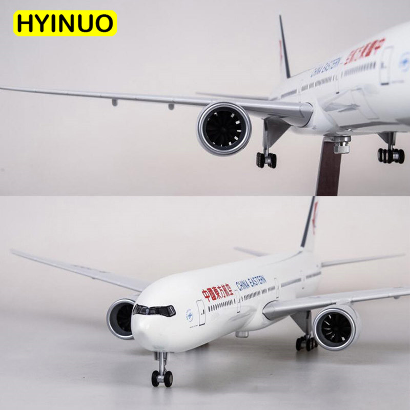 47CM 1/157 Scale Boeing B777 Dreamliner Aircraft Air China Eastern Airlines Model W Light and Wheel Diecast Plastic Resin Plane
