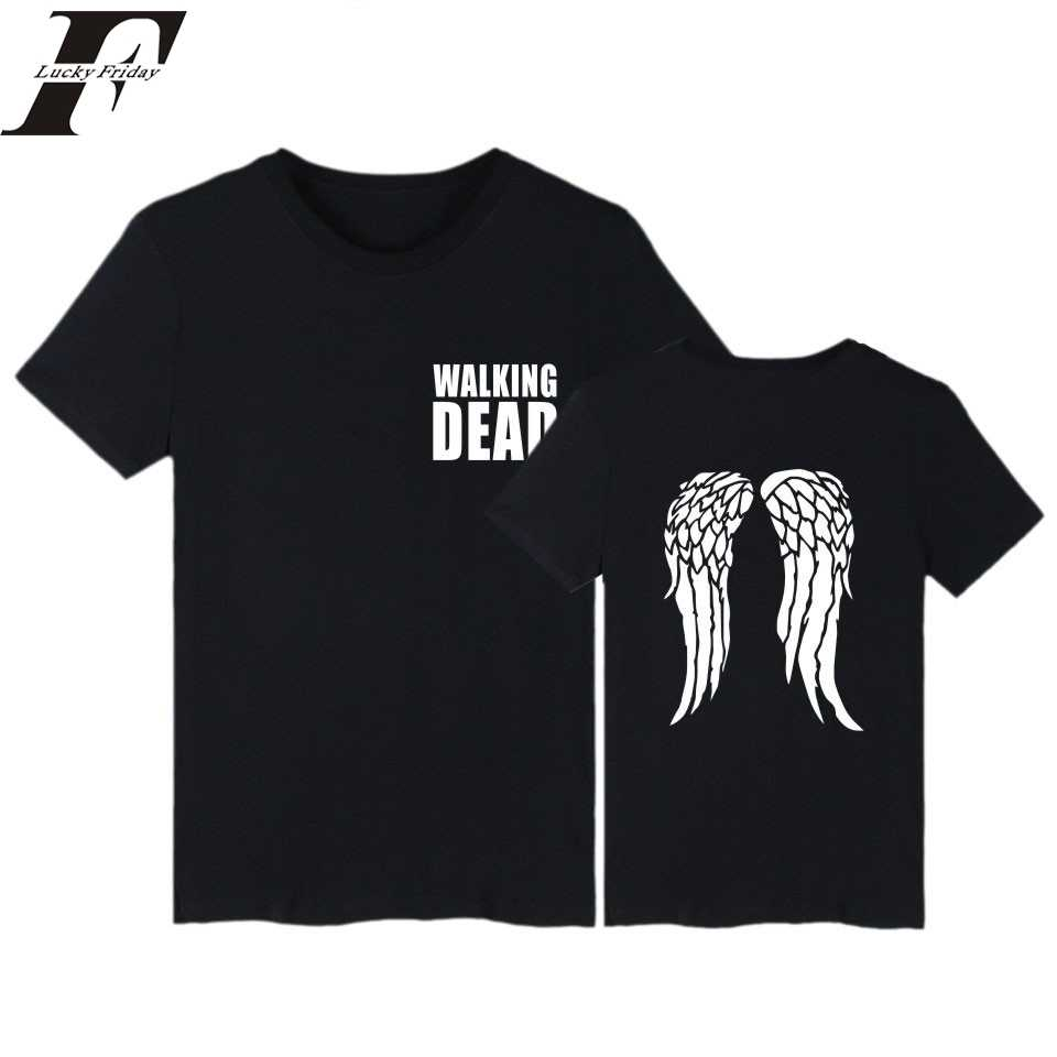 Crop top harajuku tshirt The Walking Dead fitness T-Shirt women Brand clothing funny t shirts tumblr plus Size 4XL T Shirt
