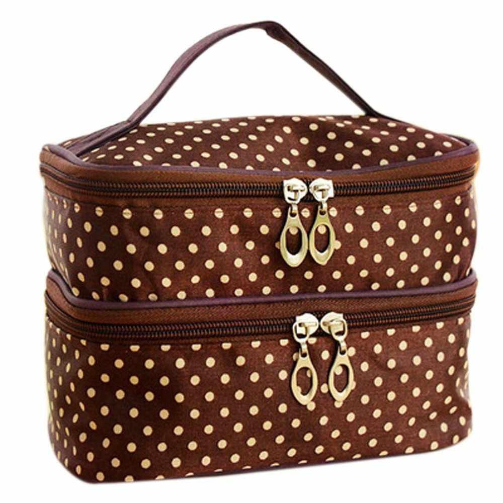 Satış seyahat tuvalet güzellik kozmetik çantası makyaj çantası organizatör fermuar tutucu çanta Bolsa de maquillaje Trousse de maquillage