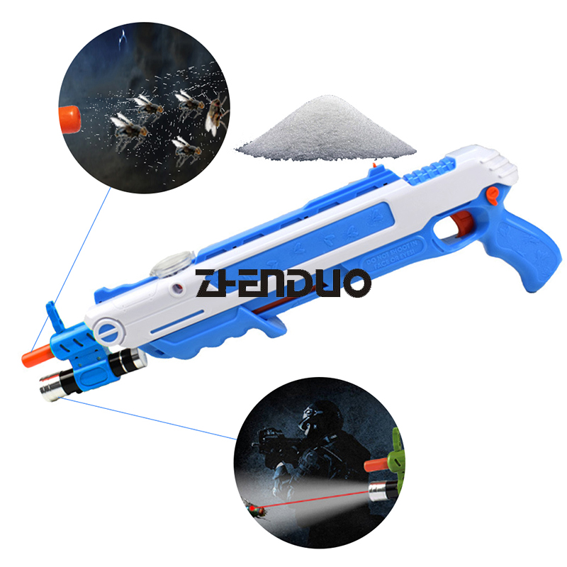 Zhen duo Bug juguete sal arma mosca sal y pimienta balas Blaster Airsoft Bug pistola Mosquito creativa modelo juguete arma de sal