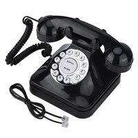 Vintage Retro Black Multi Function Landline phone Telephones One line Operation Home Telephone Wire Landline Phone