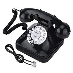 Vintage retro multi função telefones de telefone fixo de uma linha de operação de escritório em casa telefone de negócios fio telefone fixo telefone