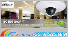 2014 New DAHUA mini PT dome 3mp dahua waterproof & full HD POE IPC-HDB4300F-PT, HDB4300F-PT free DHL shipping