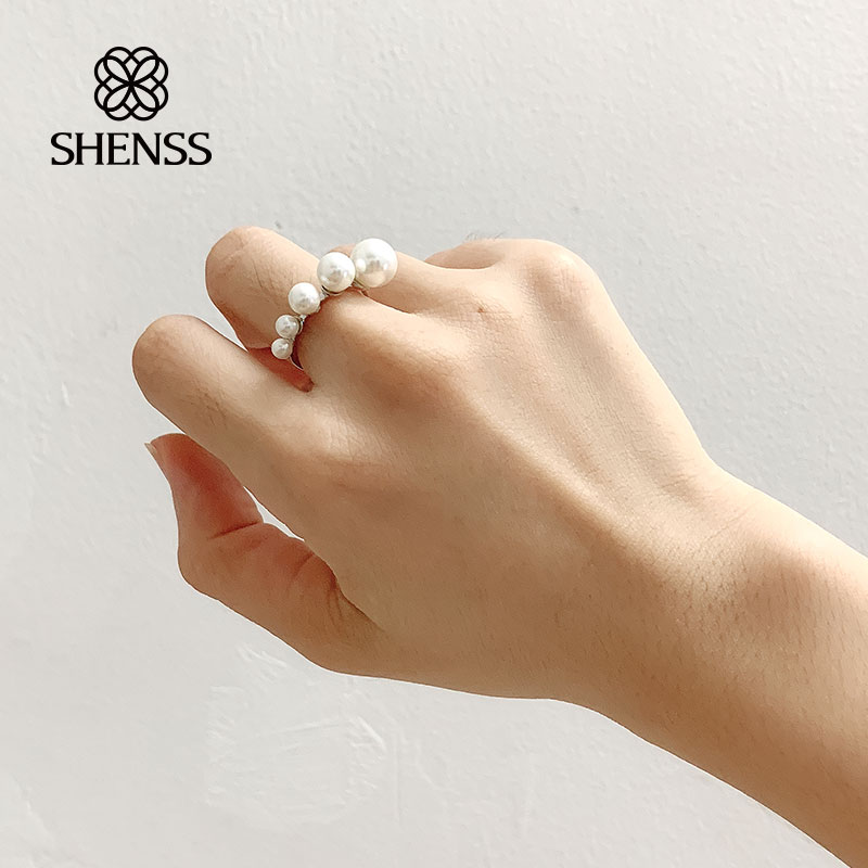 Vintage Exaggerated Pearl For Women Ring 925 Sterling Silver in Rings from Jewelry Accessories