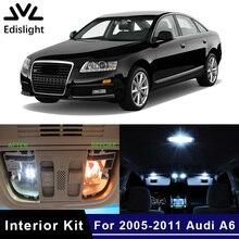 Edis светильник 18 шт. без ошибок белые светодиодные с Canbus лампы автомобильные лампы внутренняя посылка комплект для 2005-2011 Audi A6 C6 карта купольная дверная пластина светильник