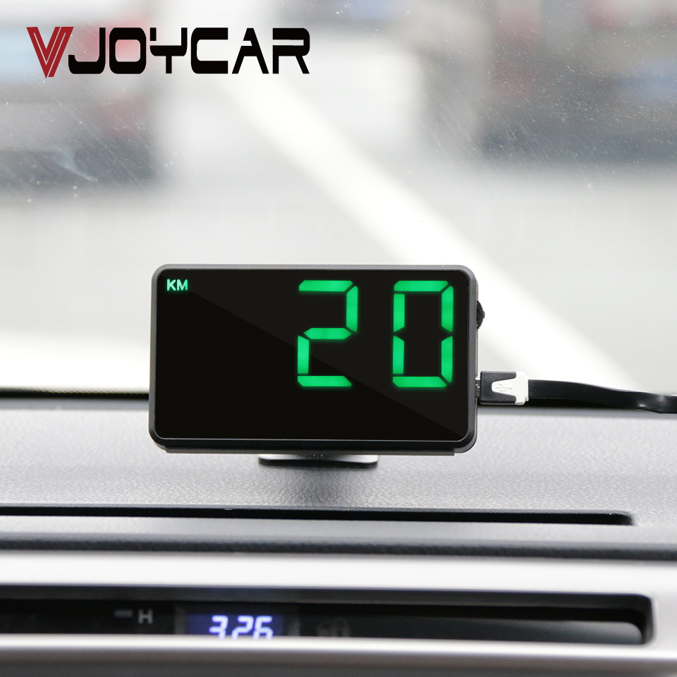 VJOYCAR New 4 Full Screen GPS Speedometer Hud Display Digital Car Speed Alarm System MPH KM/H Altitude dispaly Projector a8 car hud head up display car speedometer 5 5 inch windscreen projector obd2 code reader speed alarm voltage mph km h display