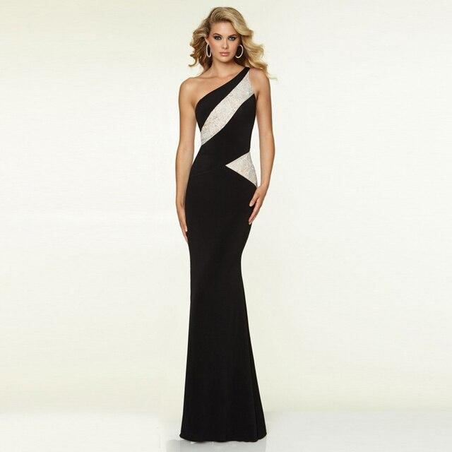 2016 Simple Design One Shoulder Mermaid Formal Evening Dresses
