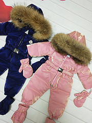 Shop For Cheap Real Fur Hooded 2018 Winter Jacket Child Jackets Children Jumpsuit Snow Suit Girl Floral Limbing Down Romper Ski Suits Outerwear To Ensure A Like-New Appearance Indefinably