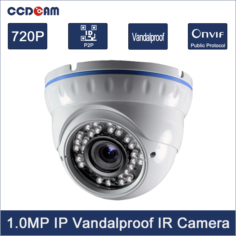 Best Quality! CCTV security system 720P 1.0MP P2P Onvif2.4 Motion dection 36 IR Night Vision Network Dome surveillance IP Camera eazzy bc 688 bulb cctv security dvr camera auto control light and recording motion dection night vision circular storage