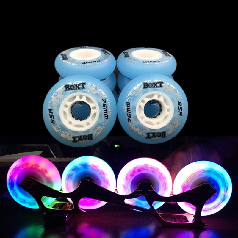 Free Shipping Roller Skates Wheels Flashing Wheel 85 A
