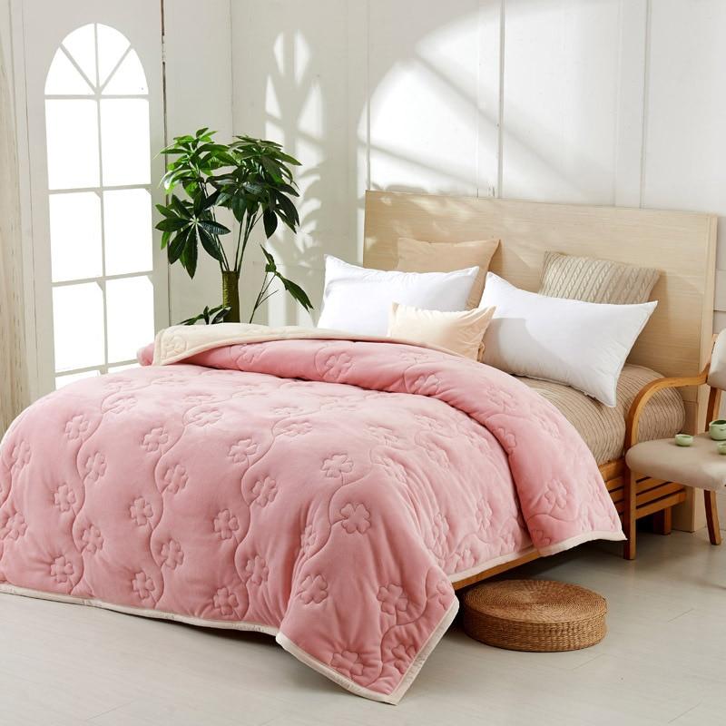Yovepii утепленные Одеяло Зимние флисовые покрывало 3 слоя фланелевый Утешитель 3.5cm толстые покрывало теплые постельные принадлежности 1 шт. лоскутное одеяло - 3