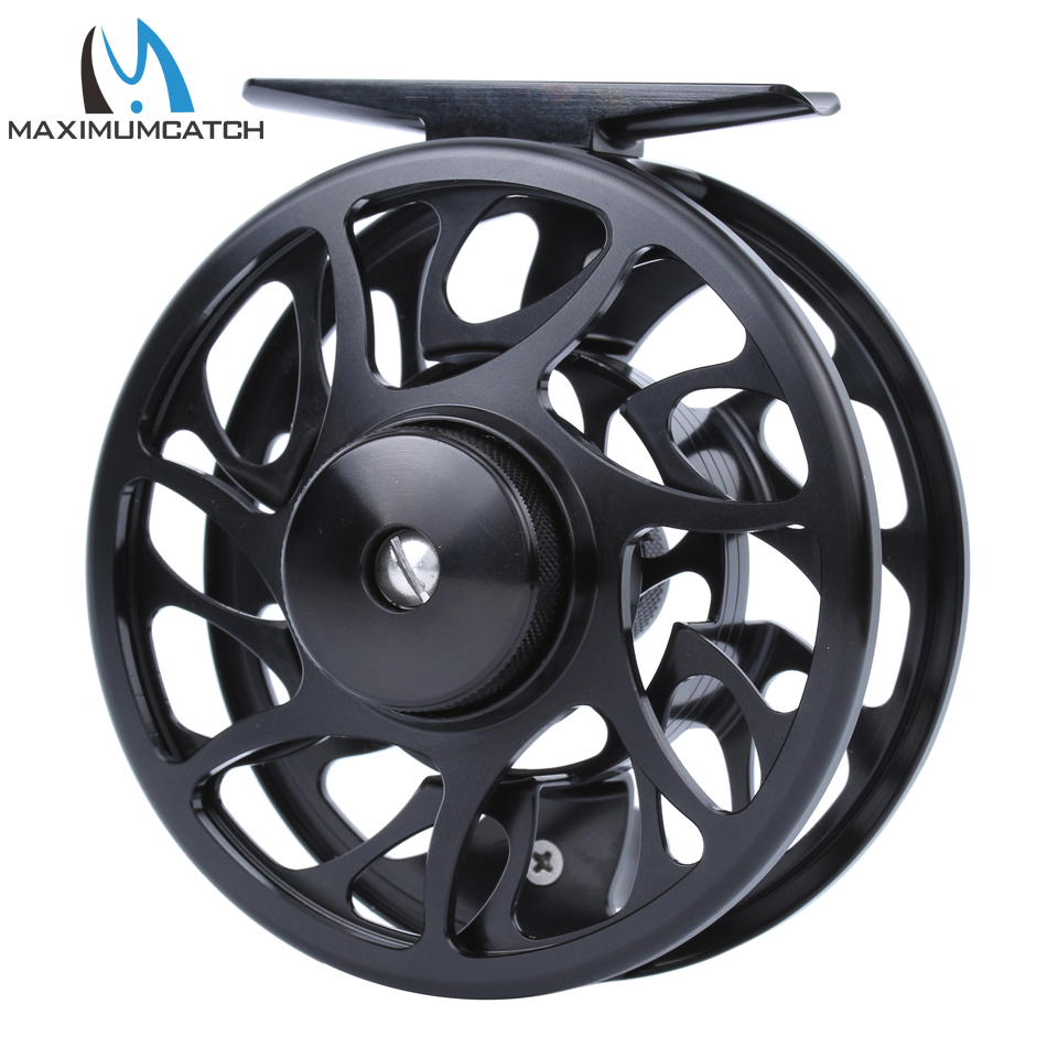 Maximumcatch CNC Machine Cut  Fly Reel 06N 3/4 WT  Aluminum Large Arbor  Fly Fishing Reel