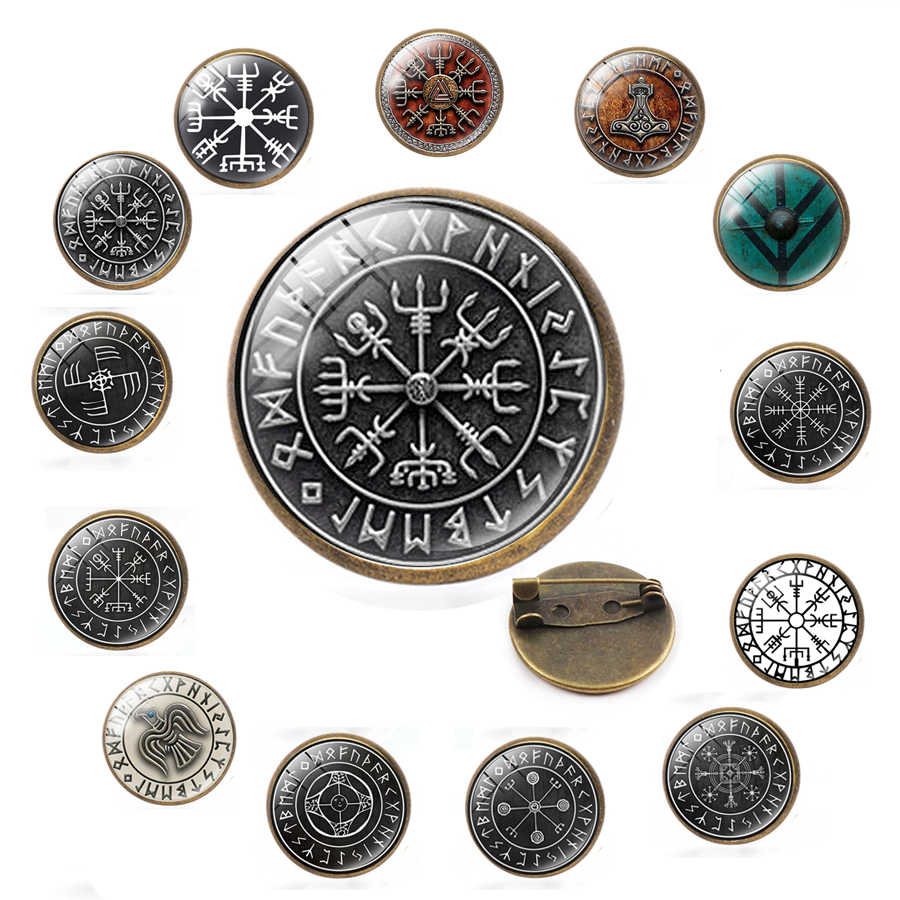 Wanita Pria Tangan Ditempa Abad Pertengahan Norse Rahasia Viking Vintage Perhiasan Wulflund Gesper Sabuk Viking Jubah Bros Jubah Pin