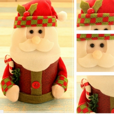 Santa Clause Plastic christmas ornament storage boxes 5c64fa35232c5