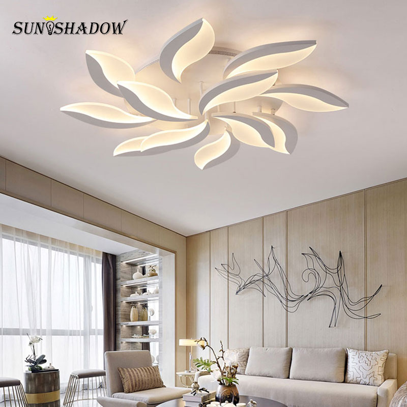Image 2 - White Body Modern LED Ceiling Light lampara de techo For Living Room Bedroom Home Lustres Plafond Ceiling Lamp Lighting Fixtures-in Ceiling Lights from Lights & Lighting