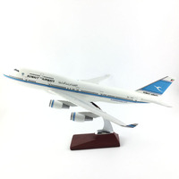 FREE SHIPPING 45 47CM 747 KUWAIT METAL BASE AND RESIN MODEL PLANE AIRCRAFT MODEL TOY AIRPLANE BIRTHDAY GIFT