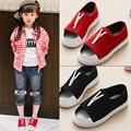 A Nova Primavera Verão 2016 Sapatos Femininos Sandálias de Lona Respirável Meninos Meninas Calçados infantis Chinelos Casuais Maré Com Zip crianças