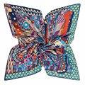 Marca de lujo de Seda Bufanda de Las Mujeres Grandes Del Verano Chal Pashmina Pañuelo Cuadrado de 130x30 de Gran Tamaño de Playa Clásico Geométrica Bufandas de Punto
