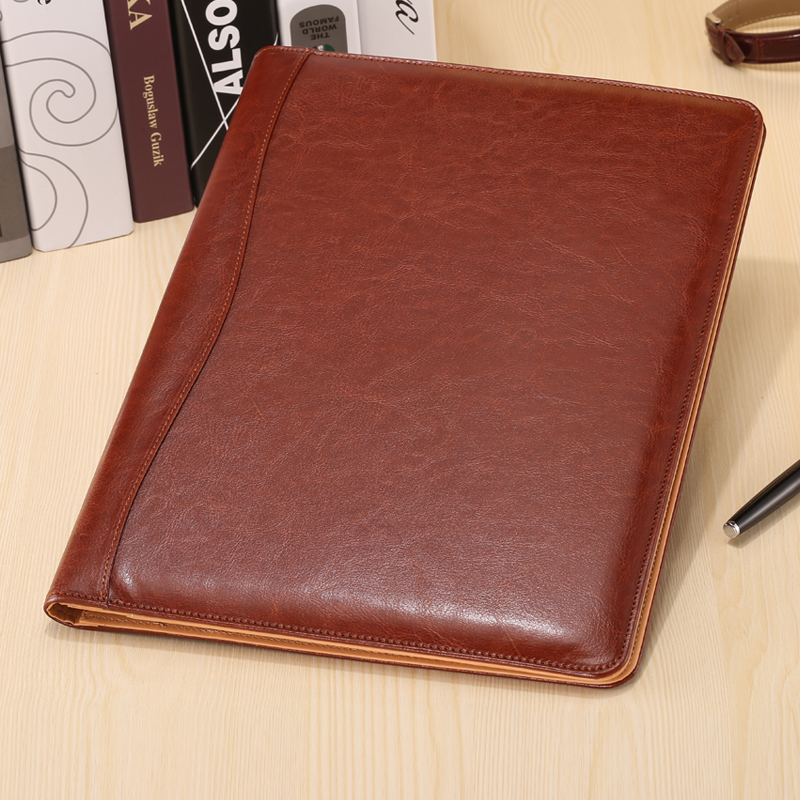 New A4 PU Leather Business Office Manager File Folder Synthetic Leather Conference Folder Manager Bag Briefcase Padfolio 1160