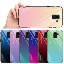 Soft TPU + Tempered Glass Case For Samsung Galaxy J6 2018 case Jelly color Cover For Samsung J6 2018 J600F J600 5.6 inch(China)