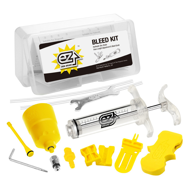 Bicycle Hydraulic Brake Bleed Tool Kit for Shimano, Tektro, Margura MT and Seires Brake System Use Mineral Oil Brake R0019 tektro 300 hydraulic disc brake