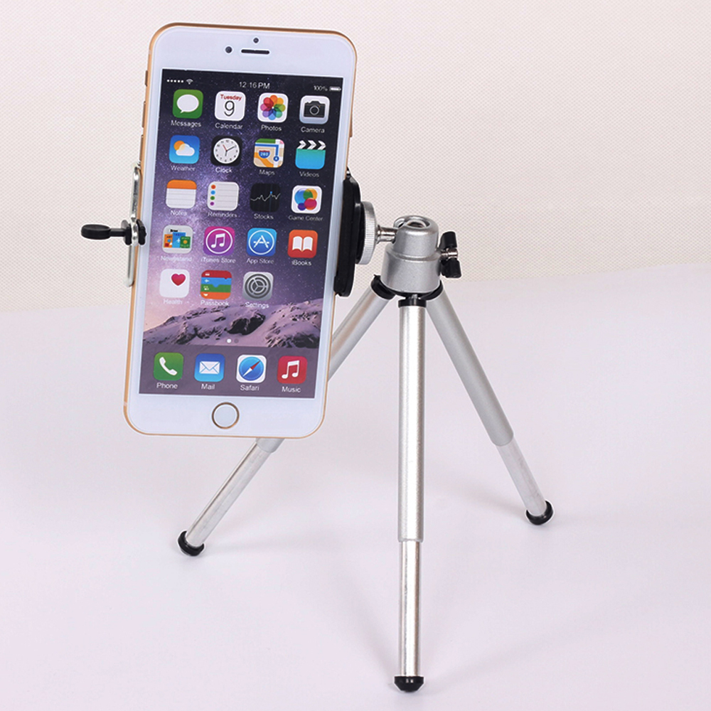 Mini Tripod For iphone 6s 7 Samsung Xiaomi Phone With Phone Clip Tripod Stand Mount Nikon