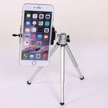 Мини-штатив для iPhone 6 S 7 Samsung Xiaomi телефона с телефоном клип штатив Nikon для GoPro 5 4 Сеанс Yi Камера
