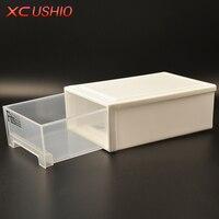 Dày Đơn Layer Nhựa Lưu Trữ Ngăn Kéo Box Organizer Trong Suốt Dép Đồ Chơi Lưu Trữ Box Trường Hợp Kết Hợp Ngăn Kéo T