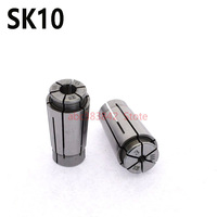 1set SK10 collet 3/4/ 6/8/10mm high precison0.005 spring collet CNC tool holder collet for millling and drilling machine