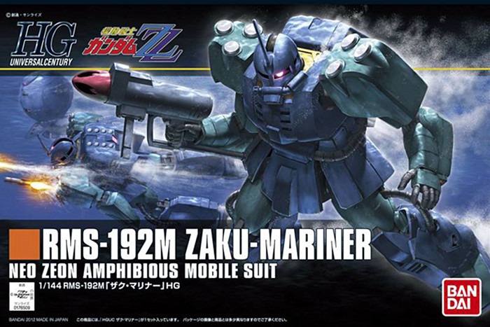 1PCS Bandai 1/144 HGUC 143 RMS-192M Zaku-Mariner Gundam Mobile Suit Assembly Model Kits Anime action figure Gunpla juguetes itap 143 2 редуктор давления