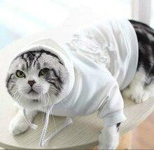 Новая весенняя домашняя кошка собака теплый свитер собака толстовка осень и зима французский одежда для бульдога толстовка с капюшоном куртка с капюшоном