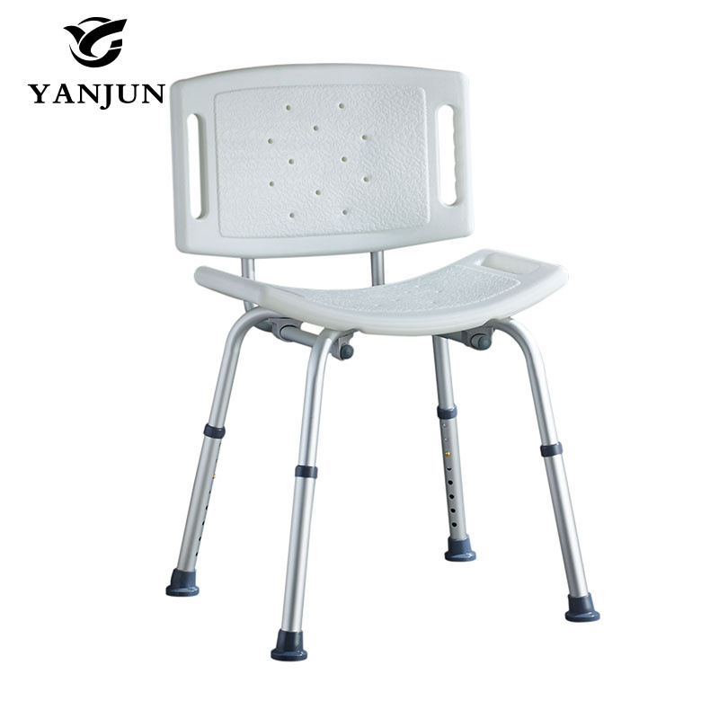 YANJUN Adjustable Aluminium Height Bath and Shower Seat Shower Bench Bathroom Safety Shower ChairTub Bench Chair