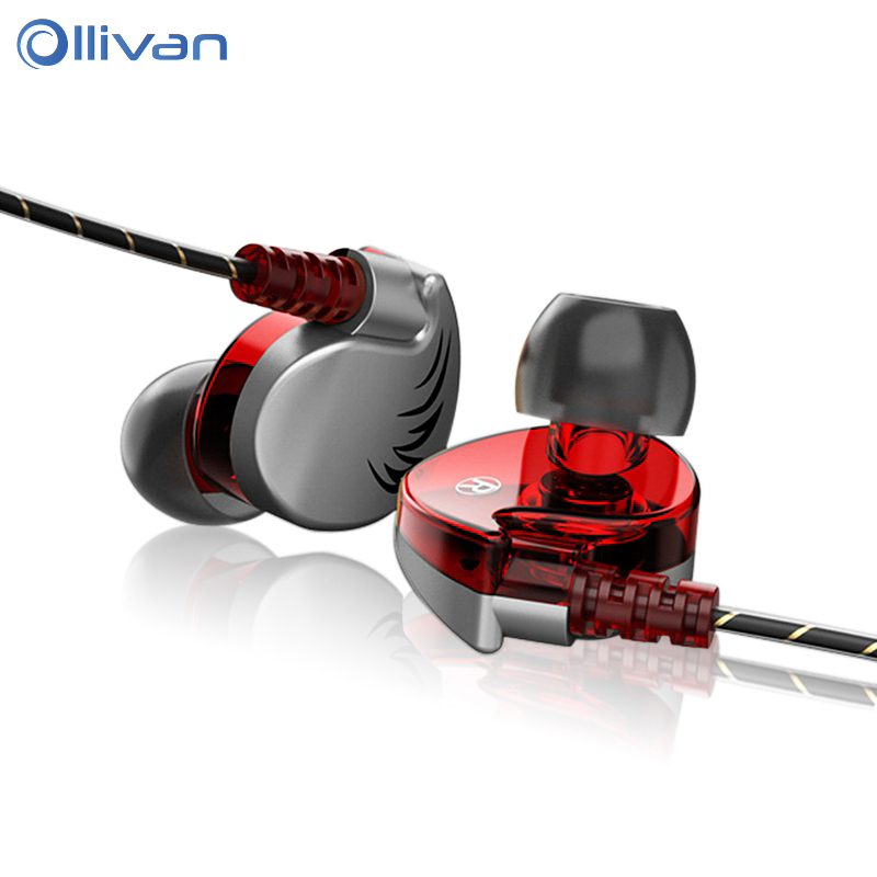 Ollivan Sport Earphone Super Bass Headphone With Microphone Wired Sweatproof Headset HIFI Ear Hook For All Mobile Phone